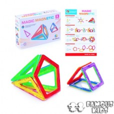 Joc magnetic 9 piese forme geometrice