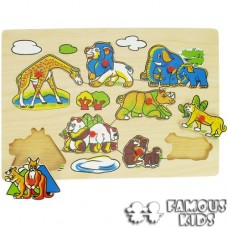 Puzzle incastru Animale salbaticie