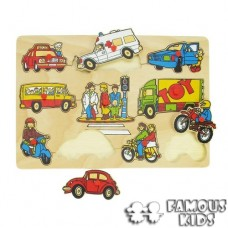 Puzzle incastru Transport