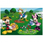 Puzzle 2 in 1 Mickey Mouse la ferma 66 piese