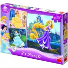 Puzzle 3 in 1 Princess 55 piese