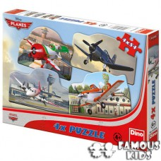Puzzle 4 in 1 Avioane 54 piese