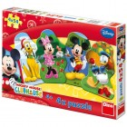 Puzzle 4 in 1 Clubul lui Mickey Mouse 54 piese