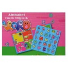 Alphabet puzzle with book