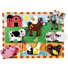 Puzzle incastru lemn Animale domestice