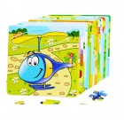 Puzzle lemn 16 piese Elicopter